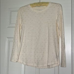 💖 Cream with Gold Dots Longsleeve Tee💖
